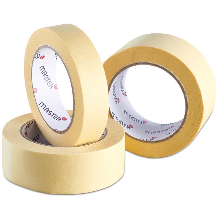 Tape Master'In crepe papir gul solvent 38mmx50m