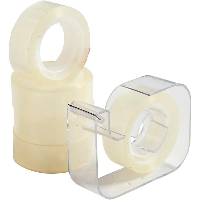 Tape med dispenser - Bredde 15 mm - 5 x 15 m