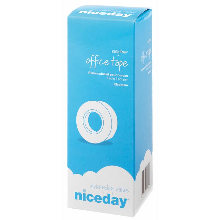Tape niceday klar - 12 mm x 33 m - kerne Ø 25 mm 1526371