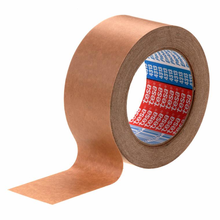 Tape papir tesa brun 75mmx50m 4313