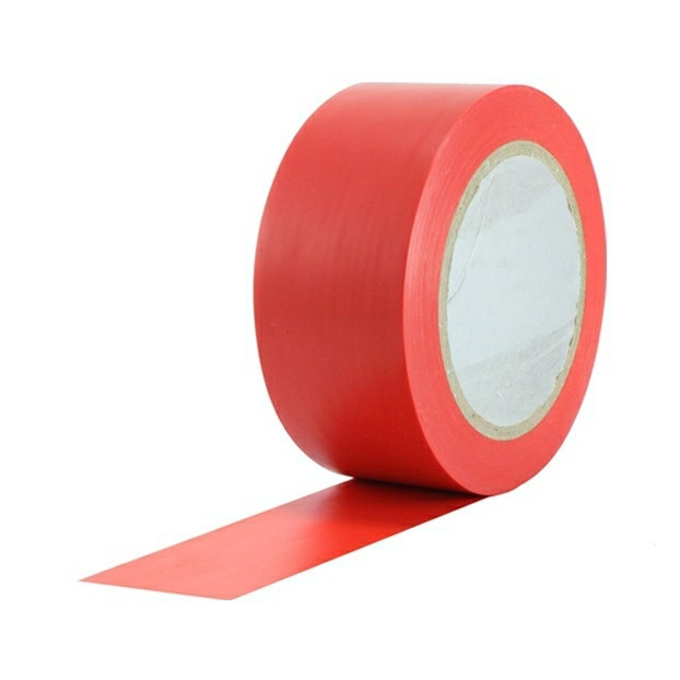 Tape PVC-s rød - 48 mm x 66 m