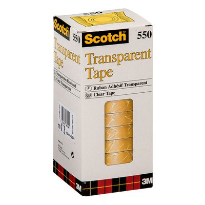 Tape Scotch kontortape 550 transparant - 19 mm x 33 m