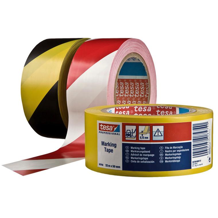Tape tesa gulvmarkering aft flex og gul - 48 mm x 33 meter 4169
