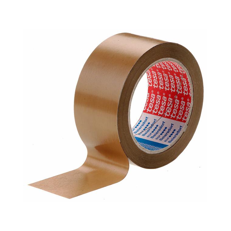 Pakketape Tesa PVC rillet brun 4100 - 48 mm x 66 m