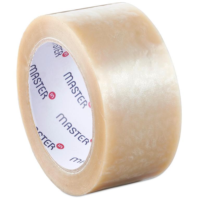 Pakketape transparent Master'In PP28 solvent støjsvag - 48 mm x 66 m pr. rulle