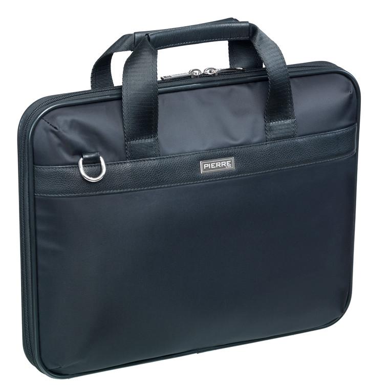 """Taske Pierre Business Briefcase nylon 14"""" sort"""