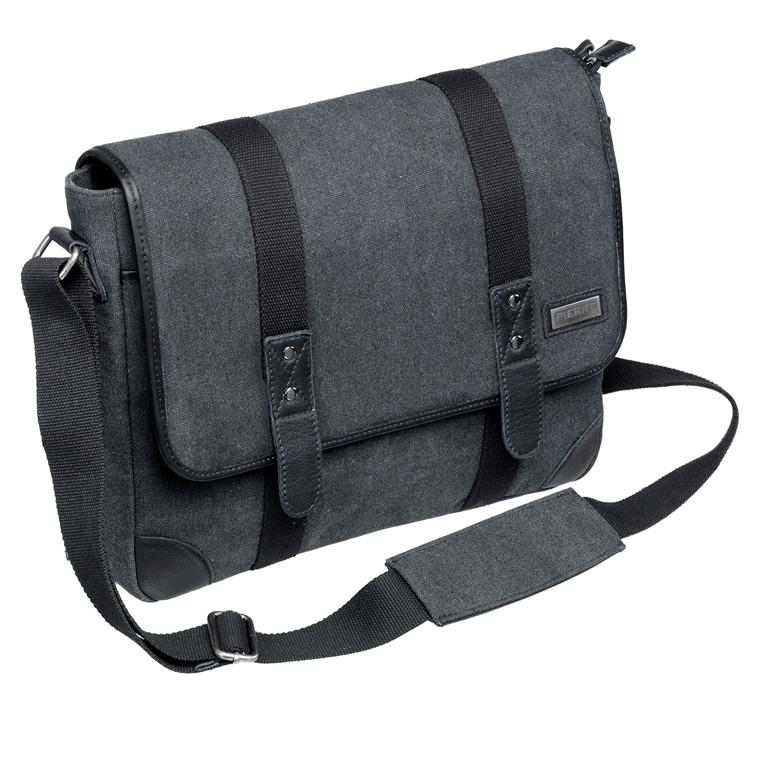 Taske Pierre Washed Canvas Messenger bag grå
