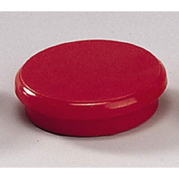 Tavle magnet - Dahle 24 mm rund rød - 10 stk.