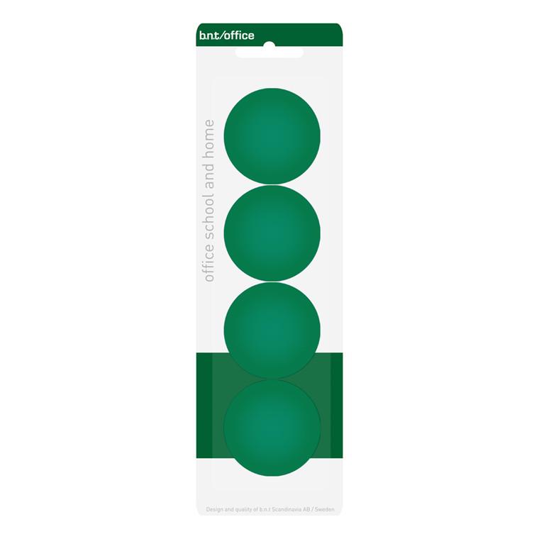 Tavlemagneter BNT - grøn runde Ø 4 cm - 4 stk.