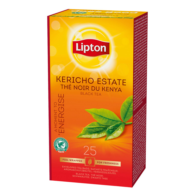 Te Lipton Kericho Estate - 25 breve i en æske
