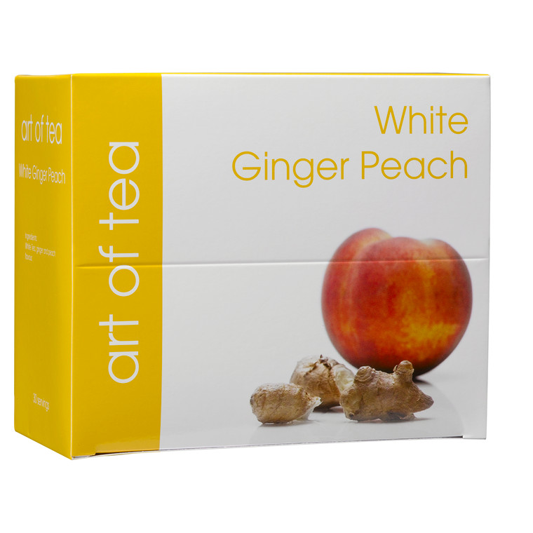 Te White Ginger Peach Art of Tea 30breve/pak