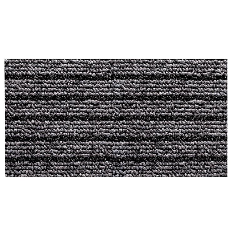 Tekstilmåtte, Nomad Aqua 4500, sort, med bagside, 60x90 cm