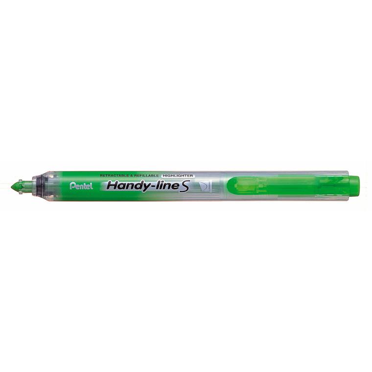 Pentel Handyline S - Grøn tekstmarker med trykknap SXS15-KO