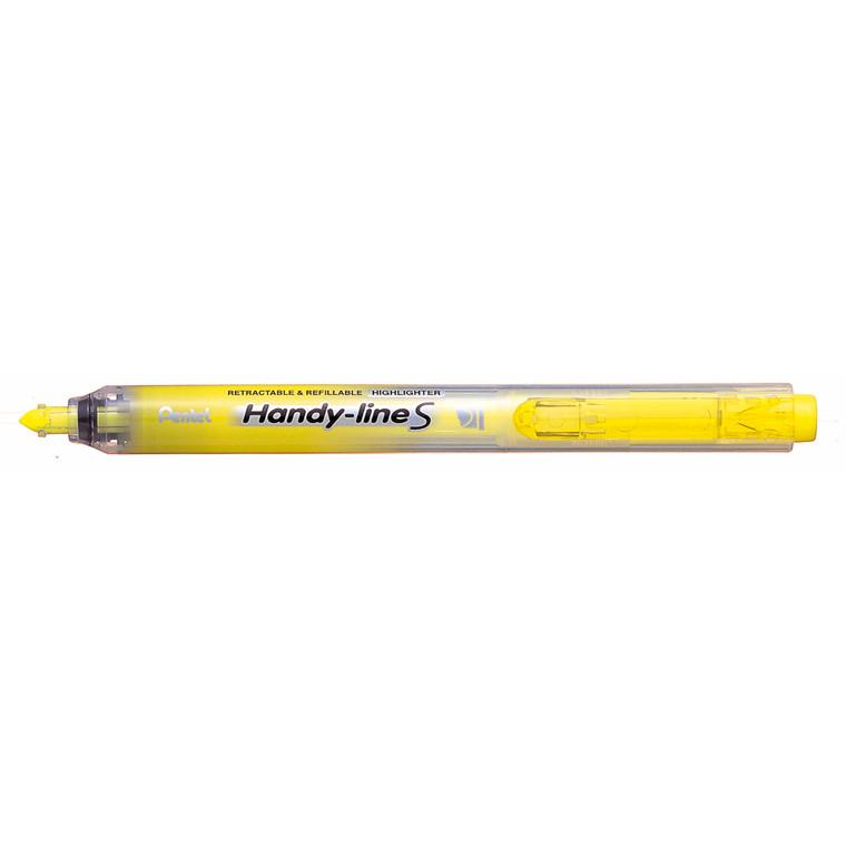 Pentel Handyline S - Gul tekstmarker med trykknap SXS15-SO
