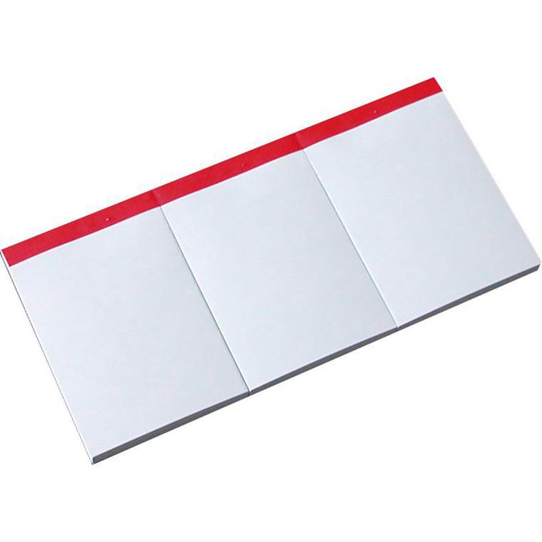Telefonblok 3-delt 247 x 120 mm - Med blanke ulinjeret ark -  3 x 100 ark