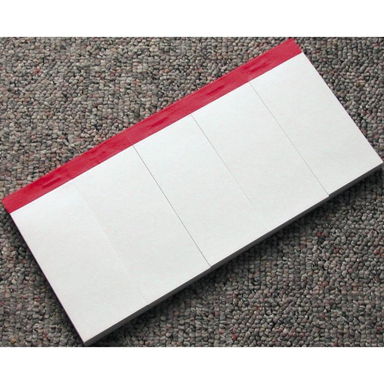 Telefonblok 5-delt 122 x 250 mm - Blanke ulinjeret ark - 5 x 100 ark
