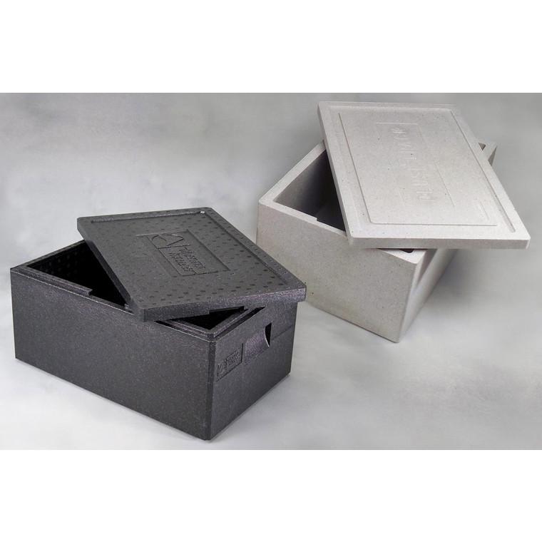 Termo skumkasse GastroNorm med låg sort - 595 x 390 x 230 mm - 30 Liter
