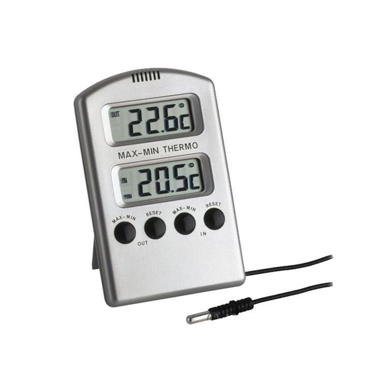 Termometer, TFA, til inde og ude, til bord eller vægophæng,