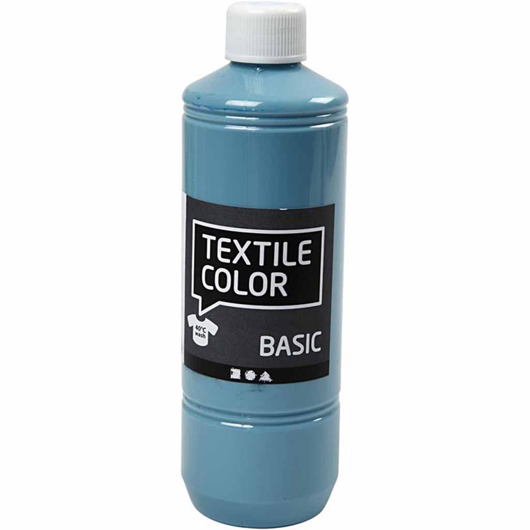 Textile Color, dueblå, 500 ml