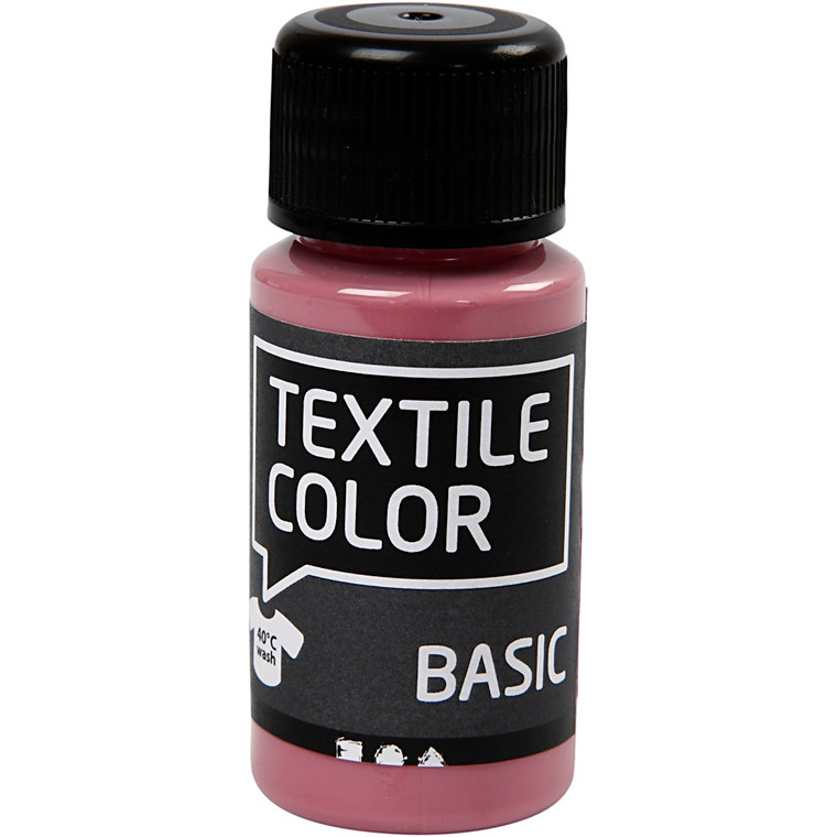 Textile Color, mørk rosa, 50ml