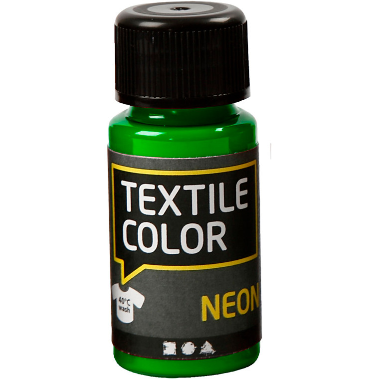 Textile Color, neon grøn, 50ml