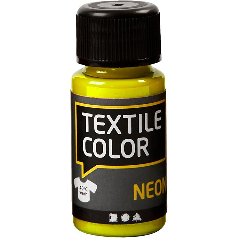 Textile Color, neon gul, 50ml