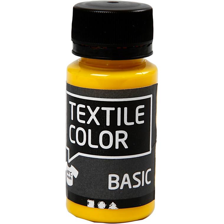 Textile Color, primær gul, 50ml