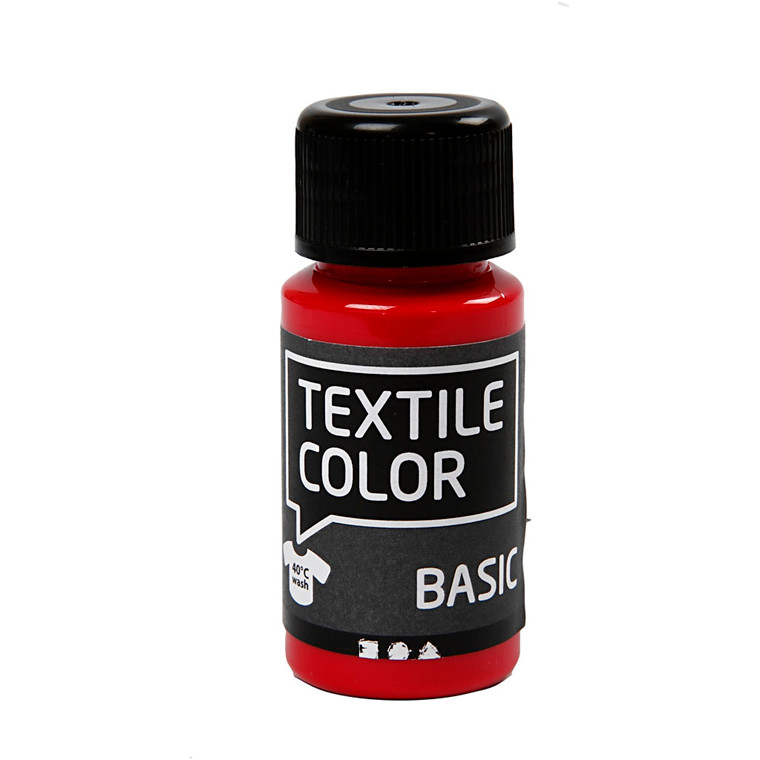 Textile Color, primær rød, 50ml