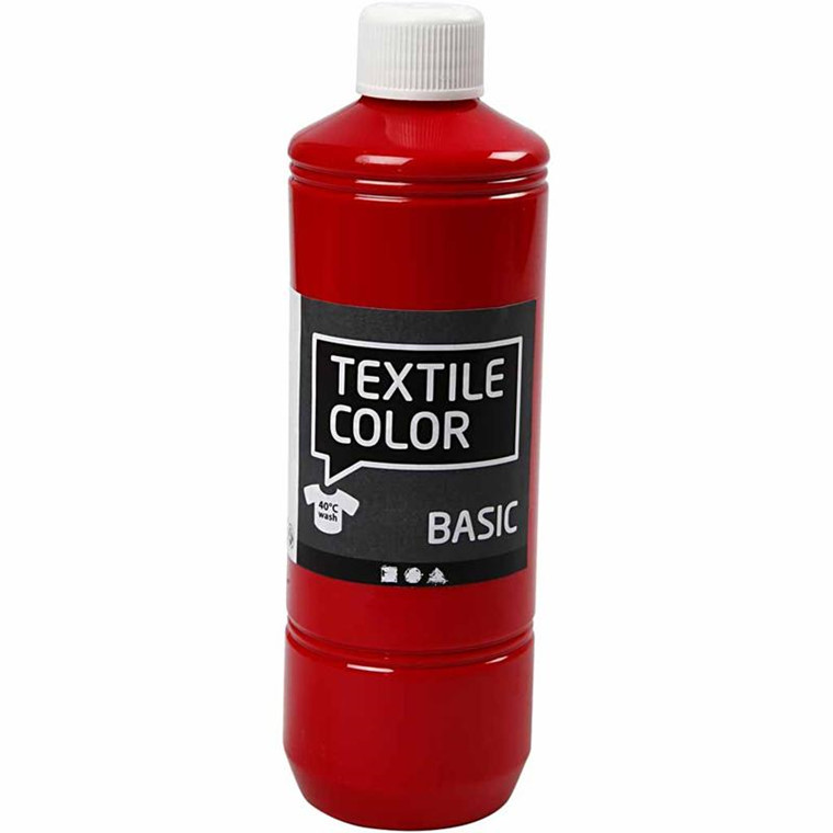 Textile Color, rød, 500ml