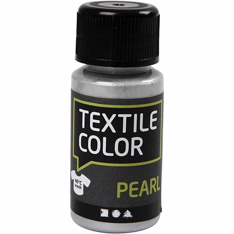 Textile Color, sølv, pearl, 50ml