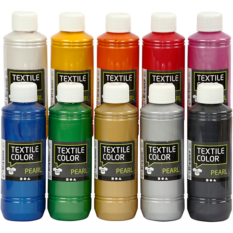 Textile Color - sortiment, pearl, 10x250ml