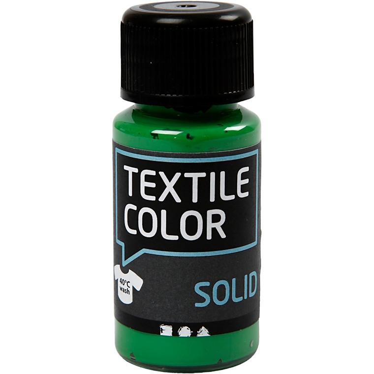 Textile Solid, brilliant grøn, dækkende, 50ml