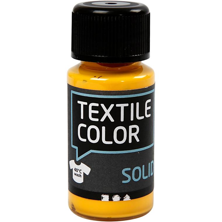 Textile Solid, gul, dækkende, 50ml