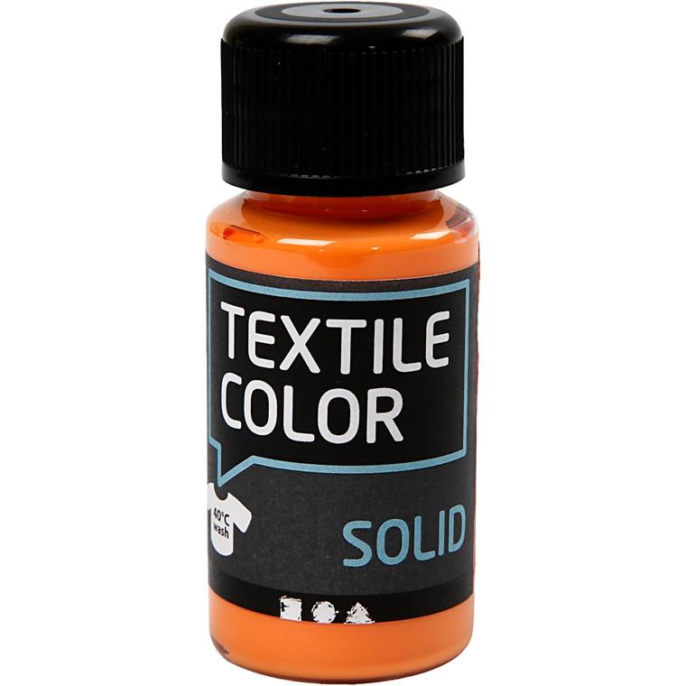 Textile Solid, orange, dækkende, 50ml