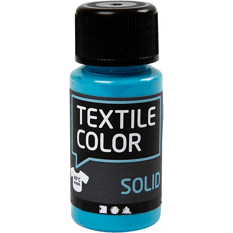 Textile Solid, turkisblå, dækkende, 50ml