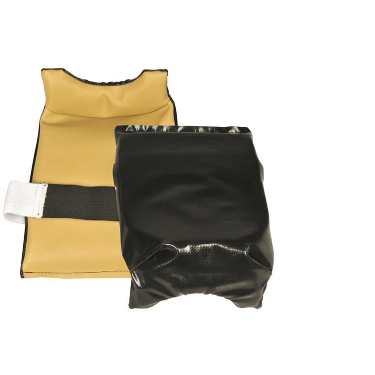 THOR Knæbeskytter - Med låsebånd, PVC forside og læder bagside