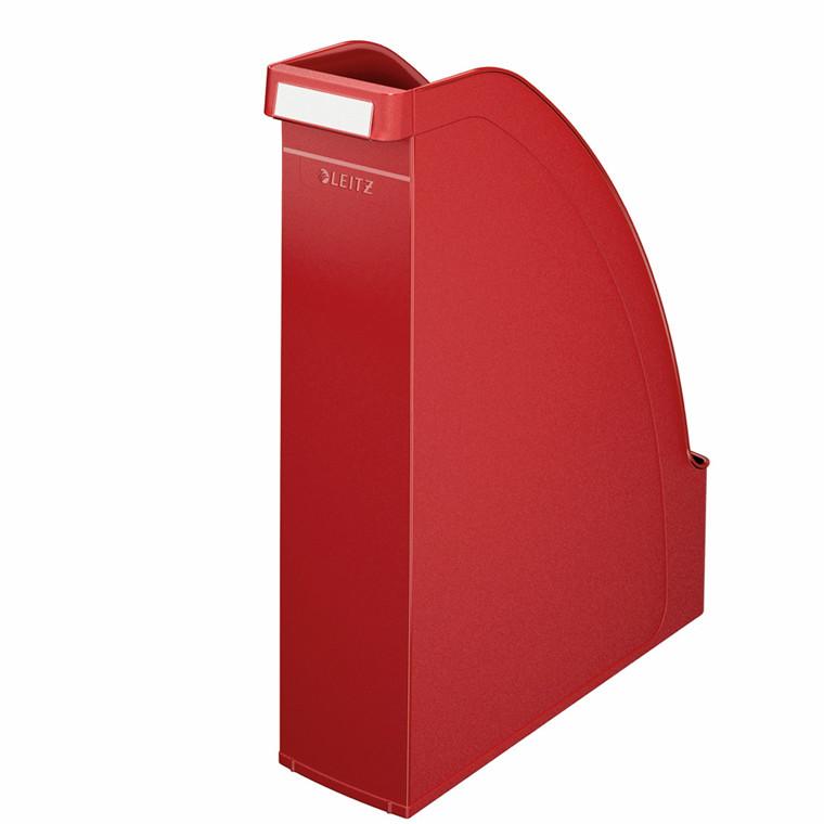 Tidsskriftsamler A4 Leitz Plus med 70 mm ryg - Rød