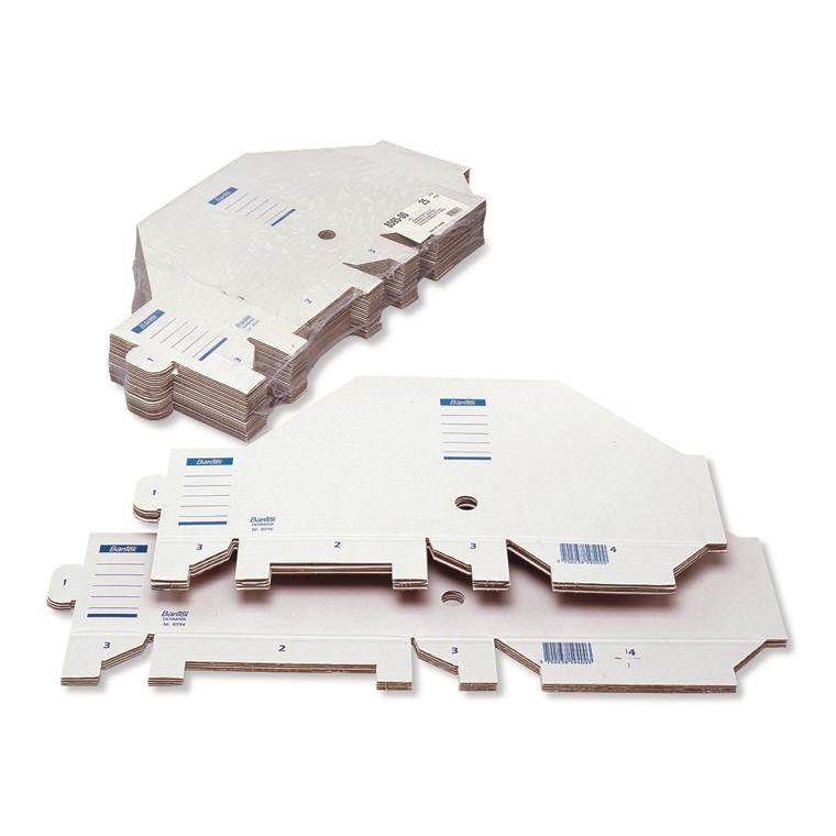 Bantex tidsskriftholder A4 med 75 mm ryg - Hvid pap