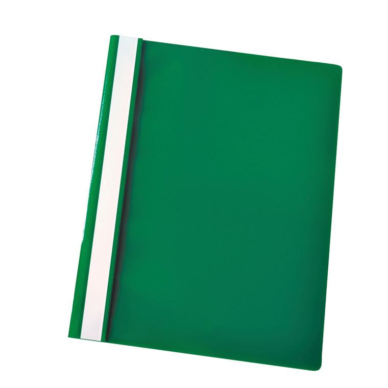 Centra A4 tilbudsmappe med split og overligger - grøn med klar forside