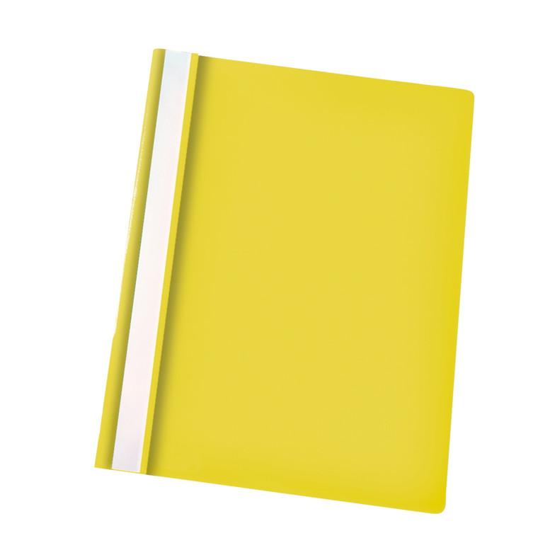 Tilbudsmappe Esselte A4 Centra u/lomme gul 25stk/ps