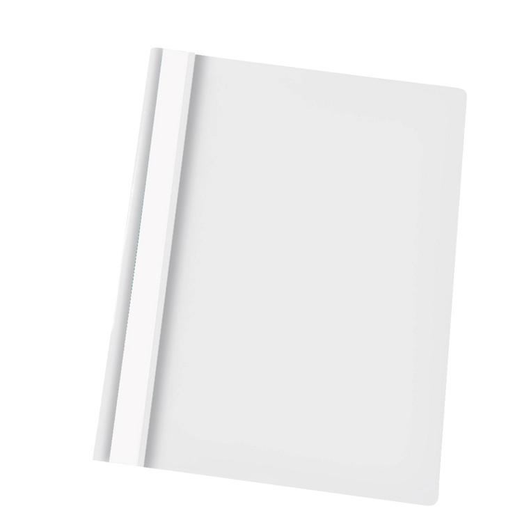 Tilbudsmappe Centra A4 med split og overligger - hvid med klar forside