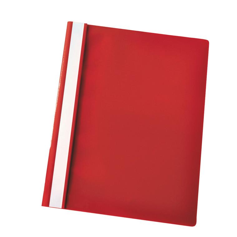 Tilbudsmapper A4 Centra med split og overligger - Rød med klar forside