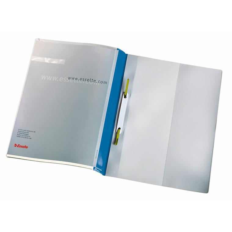 A4 tilbudsmappe blå med forsidelomme - Esselte 28363