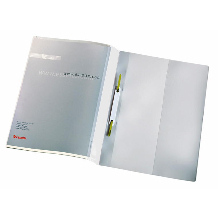 A4 tilbudsmappe hvid med forsidelomme - Esselte 28362