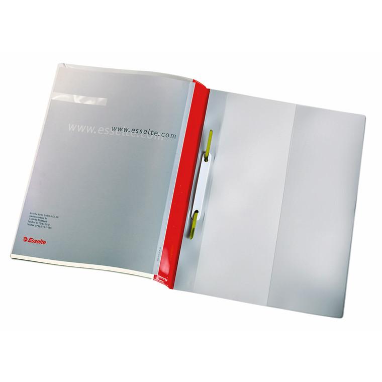A4 tilbudsmappe rød med forsidelomme - Esselte 28359