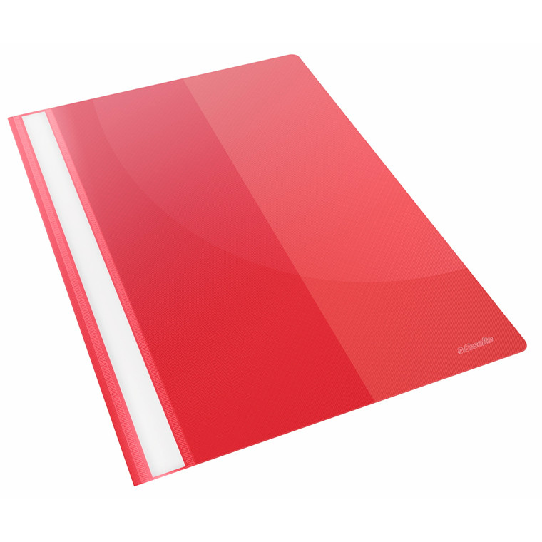 Tilbudsmappe Esselte PP rød A4 m/lomme 25stk/pak 28340