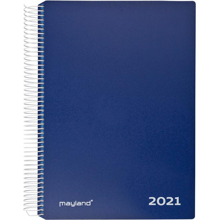 Timekalender m/spiral blå 17x23,5cm 21 2180 20 (2021)