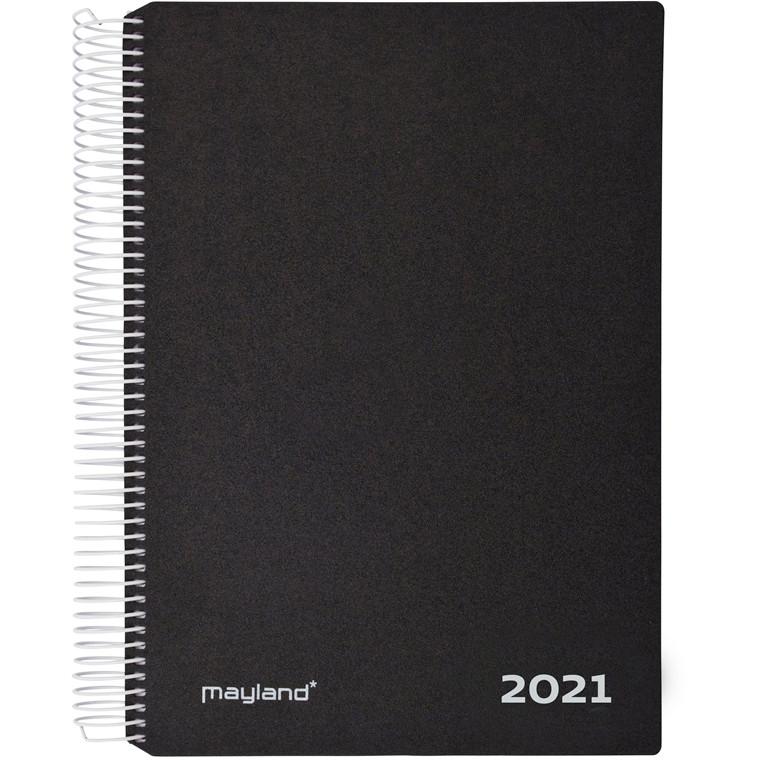 Timekalender m/spiral sort 17x23,5cm 21 2180 00 (2021)