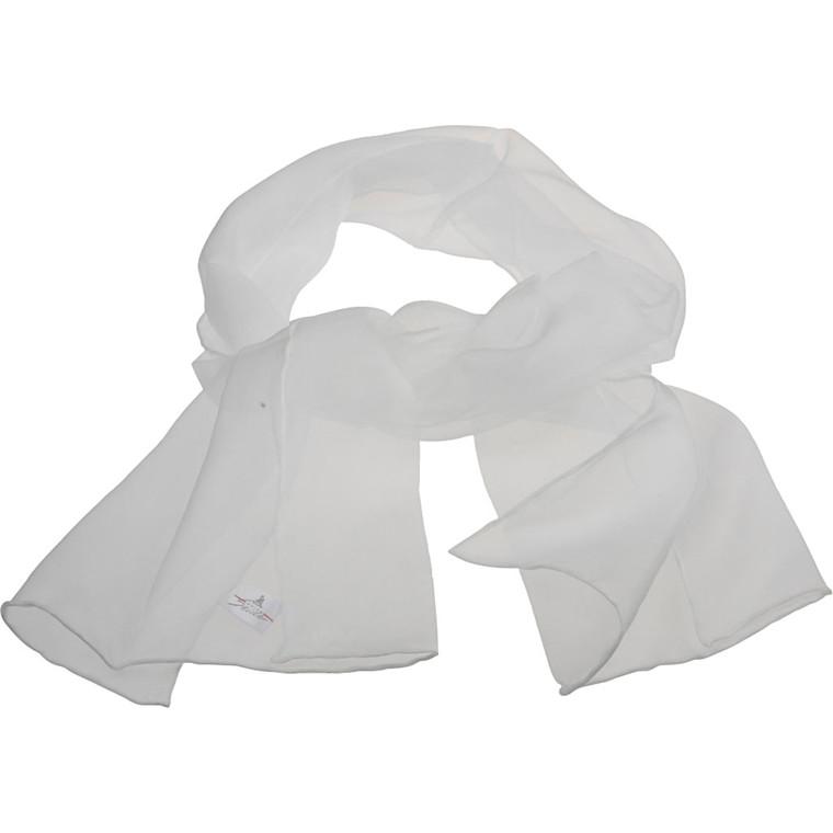 Tørklæde af silkechiffon størrelse 35 x 130 cm | 15 g/m2