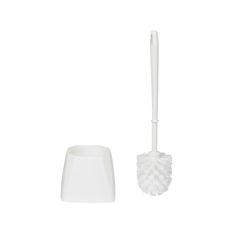 Vikan 5045 - Hvid Toiletbørste med firkantet skål